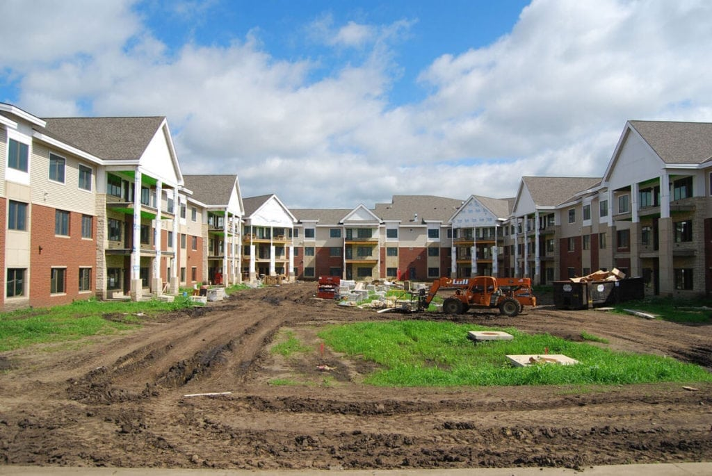 Prairie Wind Independent Living Under Construction